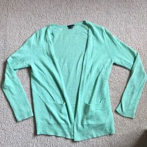 Theory Cashmere Cardigan- Light/Sea Green, Size S